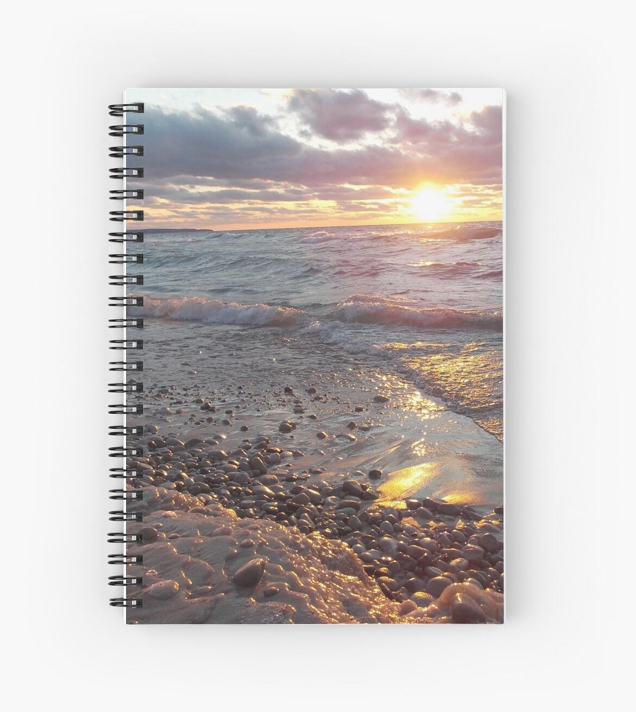 Lake Michigan Setting Sun  by hiRezolution