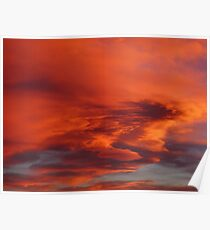 Flaming Colorado Sunset Poster