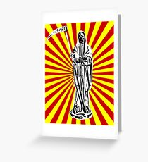 Santa Muerte Sun Ray Greeting Card