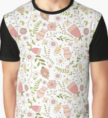 Whimsical Flowers Seamless Pattern.  Graphic T-Shirt