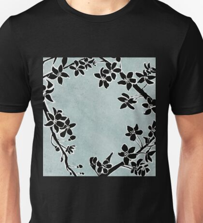 Black and White cherry blossoms  Unisex T-Shirt
