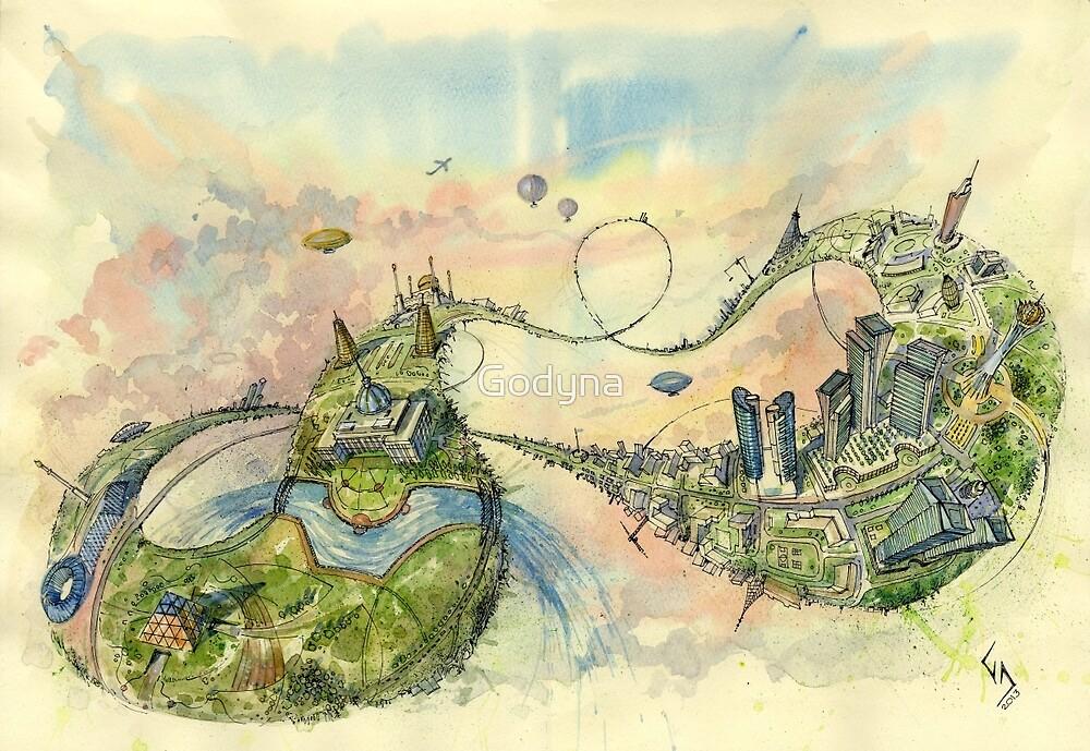 Surreal Astana by Godyna