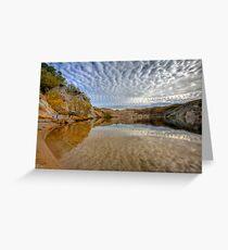 Blue Lake - St Bathans reflections Greeting Card