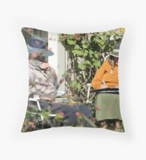 To The Post Office and Back Throw Pillow
