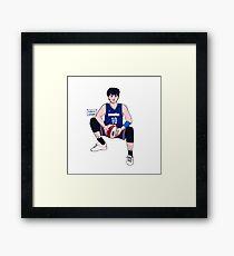 Boy game Framed Print