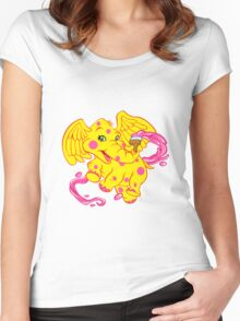 Baby Elephant with brush Women's Fitted Scoop T-Shirt