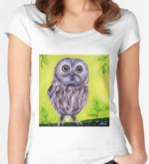 Cute Owl Women's Fitted Scoop T-Shirt