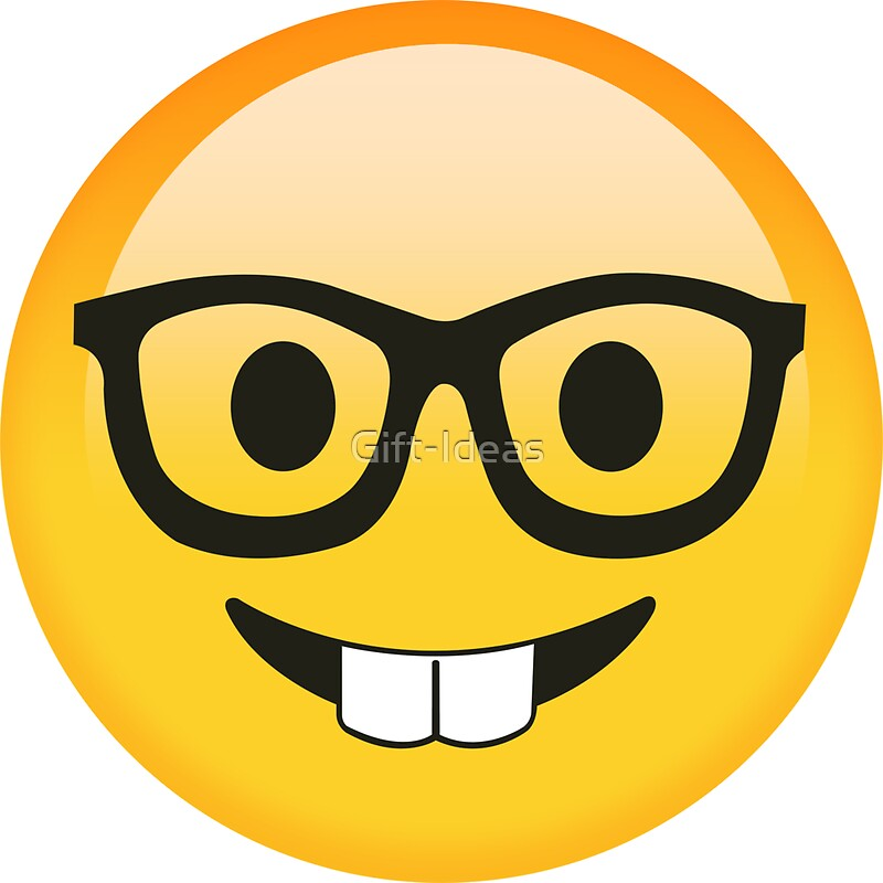 25359112 Funny Kids Smart Nerdy Emoji Gift Idea For Women Men Boys And Girls on Yellow Spiral Book