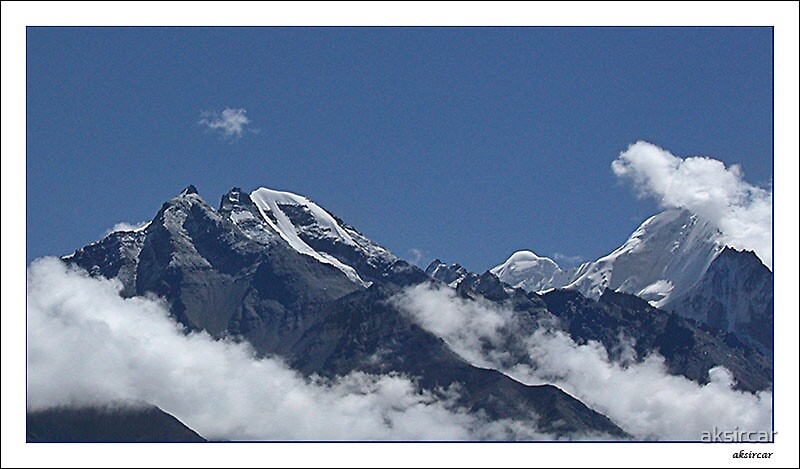 Glacier & clouds by aksircar