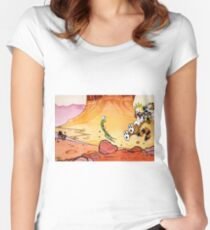 Calvin and Hobbes Weirdos From Another Planet Women's Fitted Scoop T-Shirt
