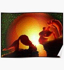 Mermaid Melting by Globel Warming Poster