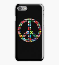 peace symbol with country flags uniting all in to peace symbol - Gift Idea for Women Men Boys And Girls iPhone Case/Skin
