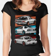 Dream Cars RX7 Generations Women's Fitted Scoop T-Shirt