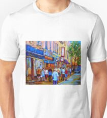 SHOPPING ALONG RUE ST.LAURENT SHOPS AND DELIS MONTREAL PAINTINGS AND PRINTS FOR SALE T-Shirt