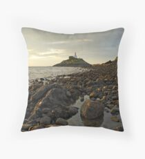 Mumbles Lighthouse Throw Pillow