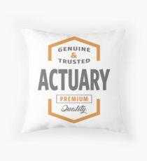 Actuary Throw Pillow