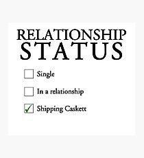 Relationship status - caskett Photographic Print