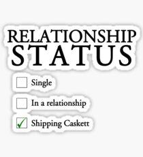 Relationship status - caskett Sticker