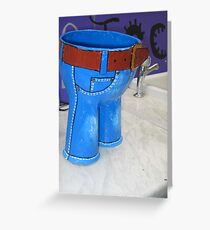 Little blue trousers Greeting Card