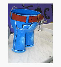 Little blue trousers Photographic Print
