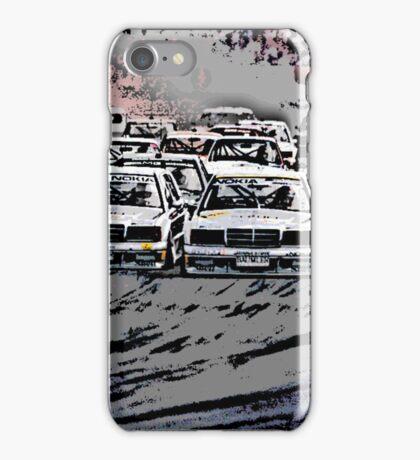DTM Mercedes 190 Evo Fight iPhone Case/Skin