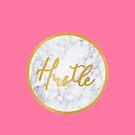 Hektik-Typografie Marmor, Pink, Gold von Abigail Vigh