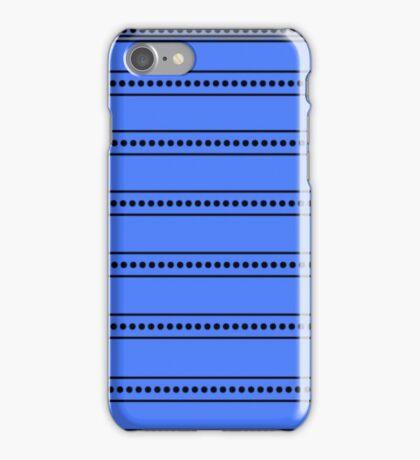 Black Sunburst on Blue iPhone Case/Skin