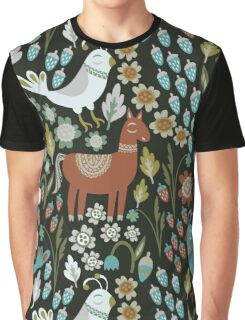 Woodland Creatures Graphic T-Shirt
