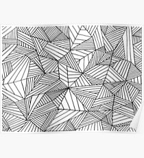 Black and White Pattern II Poster