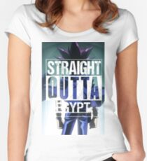 Straight Outta Egypt Women's Fitted Scoop T-Shirt