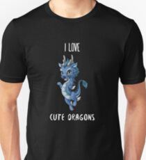 I Love Cute Dragons Unisex T-Shirt