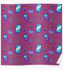 Cell phone pattern Poster