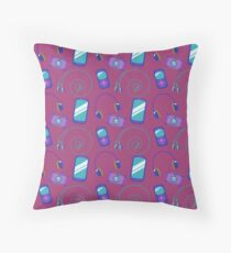 Cell phone pattern Throw Pillow