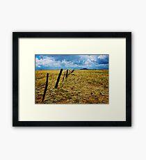Desert Fence Framed Print