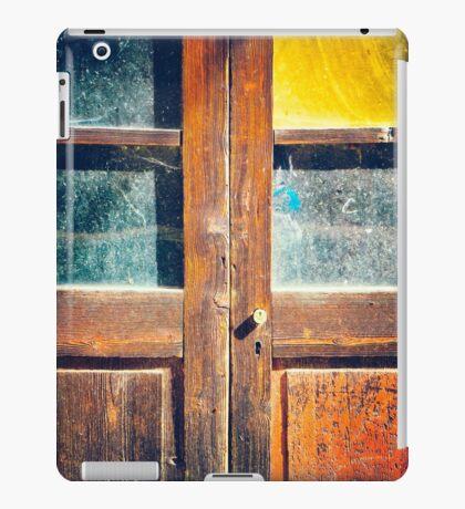 Rotten wooden door detail iPad Case/Skin