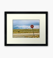 Desert Stop Framed Print