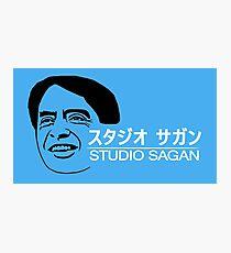 Studio Sagan (White Text) Photographic Print