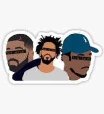 Drake, J Cole, Kendrick Lamar (Herz, Verstand, Seele) Sticker
