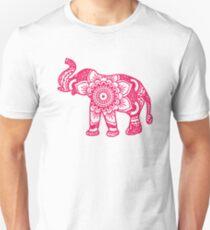 Mandala Elephant Pink Unisex T-Shirt