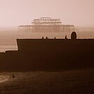 Towards West Pier by mikeosbornphoto