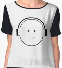 boy with headphones Chiffon Top