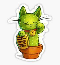 Lucky Cat-tus Sticker