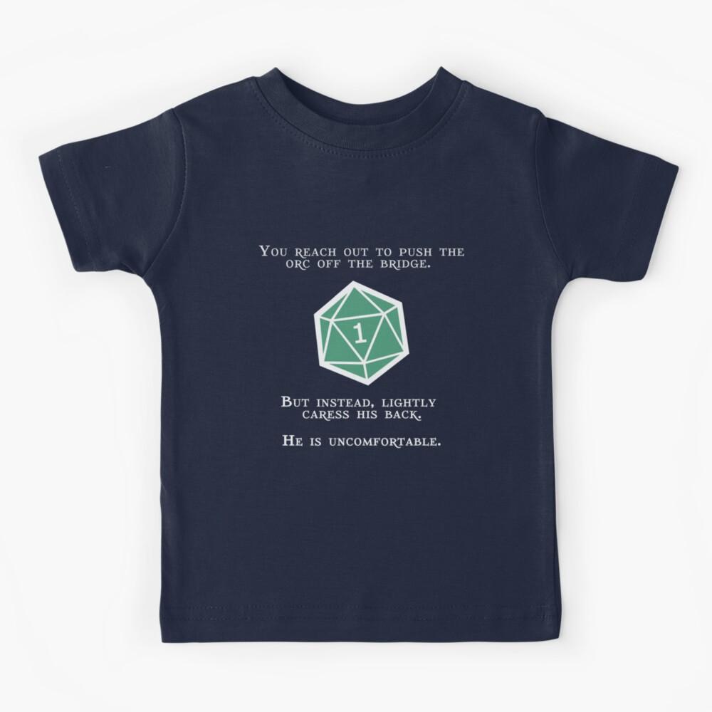 Natural 1 - Orc (White) Kids T-Shirt