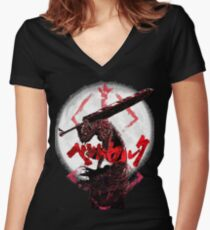 Demon Guts - Berserk Women's Fitted V-Neck T-Shirt