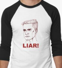 Henry Rollins: Liar Men's Baseball ¾ T-Shirt