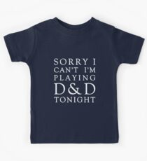 Sorry, D&D Tonight (Classic) White Kids Clothes