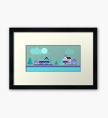 house illustration Framed Print