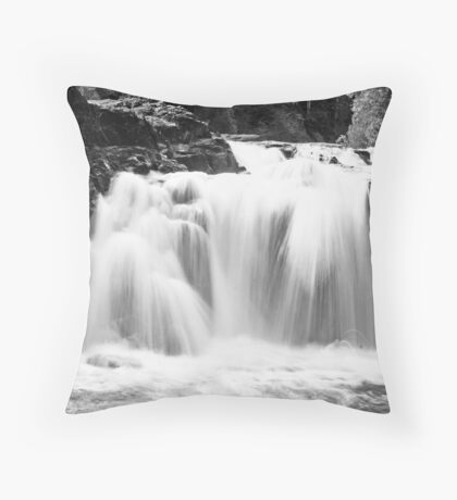 Upper Falls on the Brule River Throw Pillow