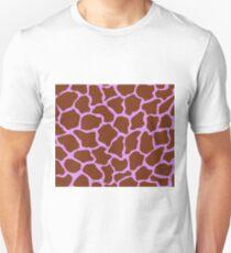 Bright Lilac in Giraffe Pattern  Unisex T-Shirt