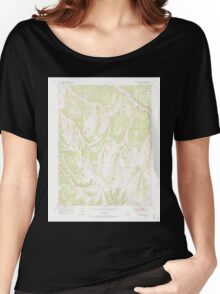 USGS TOPO Map Colorado CO Greasewood Gulch 450899 1952 24000 Women's Relaxed Fit T-Shirt
